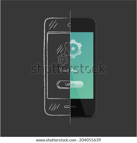 app development - stock vector