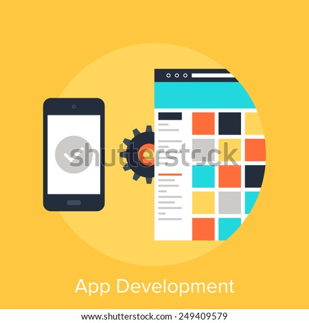 App Development - stock vector