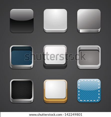 App icon backgrounds set - stock vector