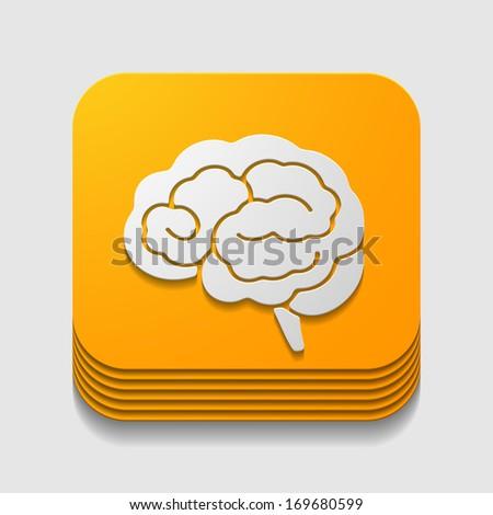 app icon brain - stock vector