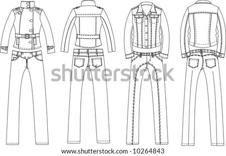 apparel design - stock vector