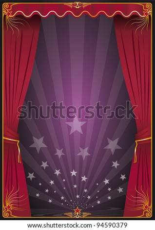 Appearing on the scene. A background with curtains for your advertising. - stock vector