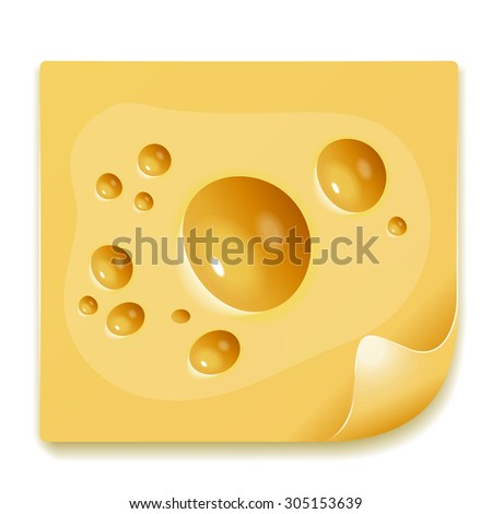 Appetizing slice of cheese image