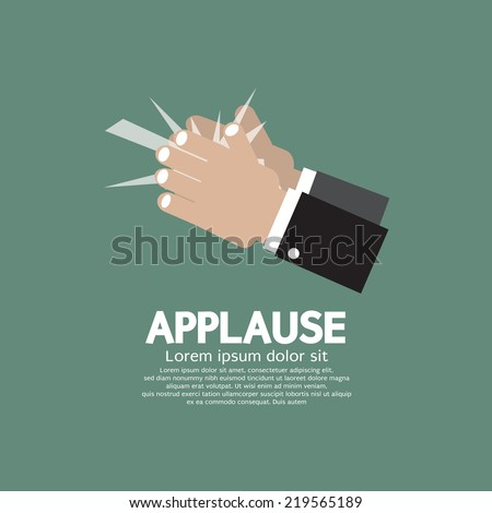 Applause Vector Illustration - stock vector