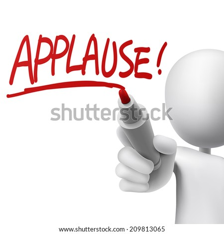 applause written by a man over white background - stock vector