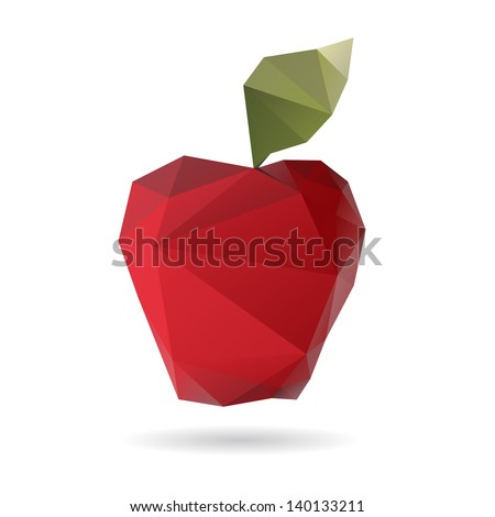 Apple abstract isolated on a white backgrounds - stock vector