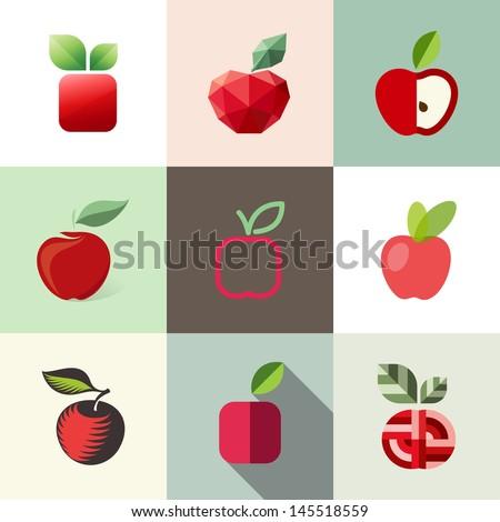 Apple. Elements for design - stock vector