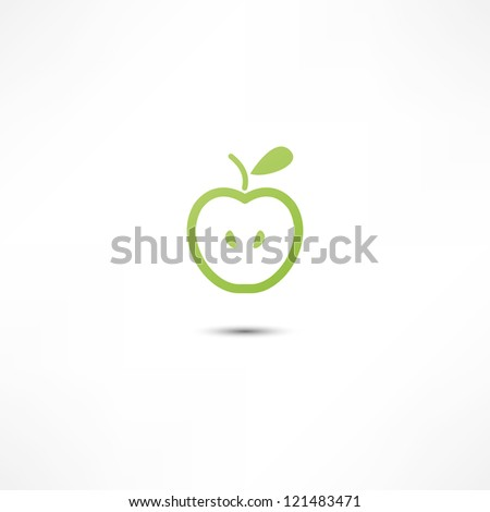 Apple Icon - stock vector