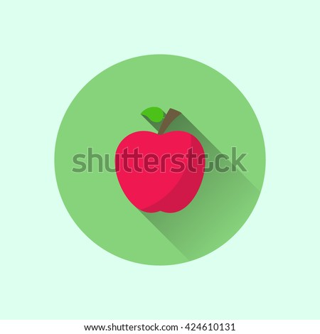 apple icon. flat apple icon. apple vector