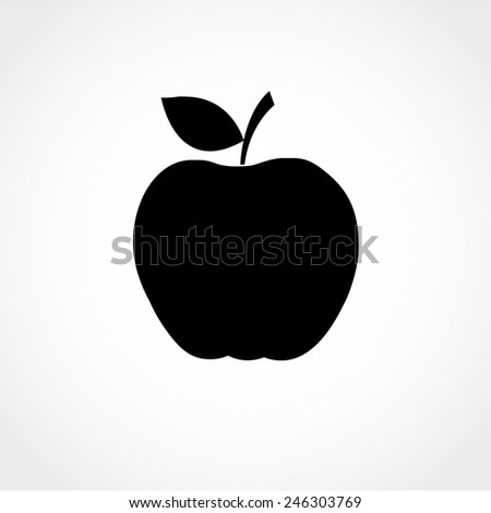 Apple Icon Isolated on White Background