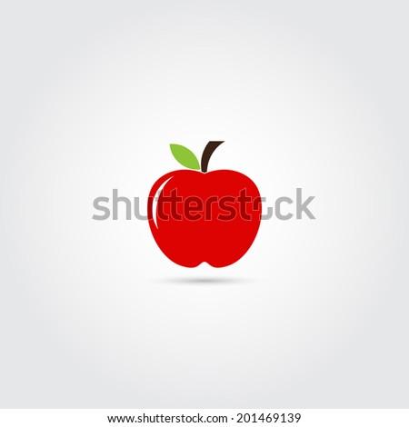 Apple icon - Vector - stock vector