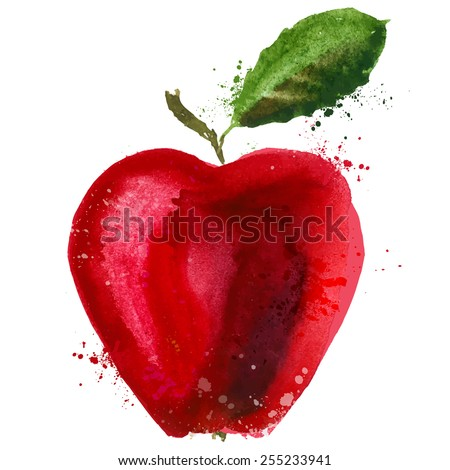 apple logo design template. food or fruit icon. - stock vector
