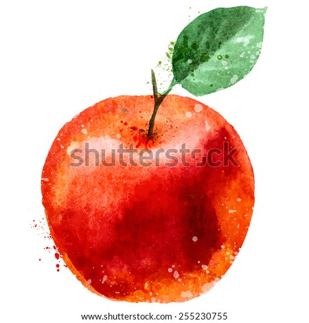apple logo design template. fruit or food icon. - stock vector