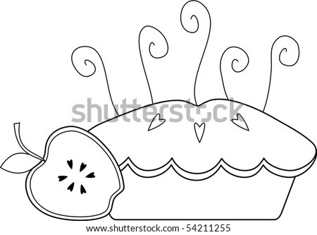 Apple Pie - stock vector