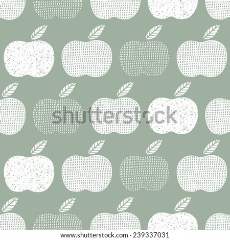 Apple seamless background. Vector illustration.