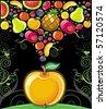Apple splash ( fruit series) - stock photo