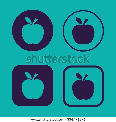 Apple vector icons - stock vector