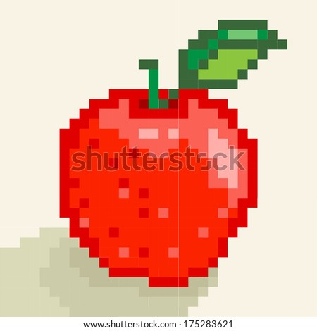 Apple. Vector pixel art