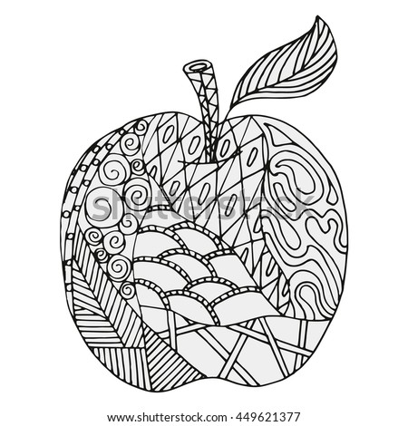 Apple Abstract Figures Coloring Book Page Stock Vector 449621377 ...