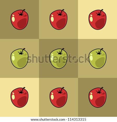 Apples - stock vector