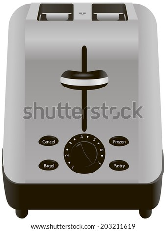 Appliance classic toaster with thermostatic control. Vector illustration. - stock vector