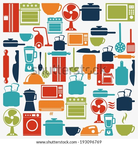 Appliances design over white background, vector illustration - stock vector