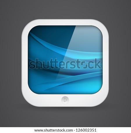 application icon - mobile tablet computer shape - vector - stock vector