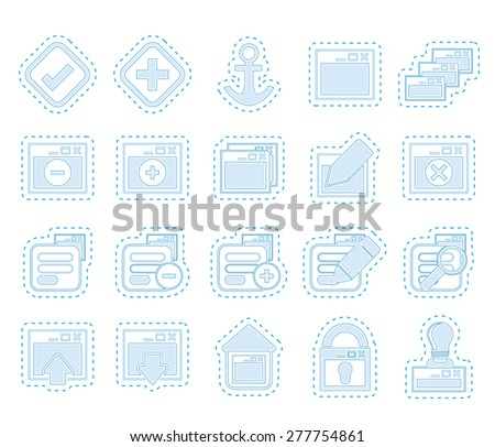 Application, Programming, Server and computer icons vector Icon Set 1 - stock vector