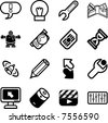 Applications Icon series set.  A vector icon set relating to computer applications - stock vector