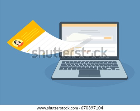 Apply Jobs Send Upload Resume Concept Stock Vector (Royalty Free ...