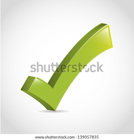 approval icon over white background vector illustration - stock vector