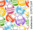 Approval paper stickers seamless background - stock vector
