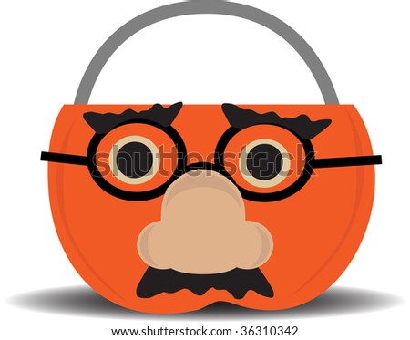 Approval Pumpkin Candy Holder Wearing Disguise