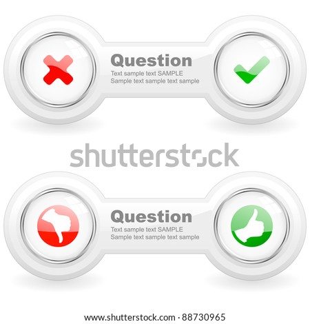 Approved and rejected element for web. Vector illustration. - stock vector