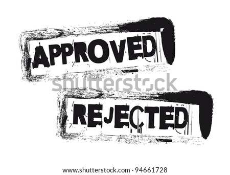 approved and rejected stamps isolated over white background. vector