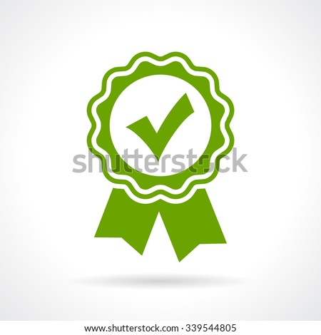 Approved certificate icon isolated on white background - stock vector