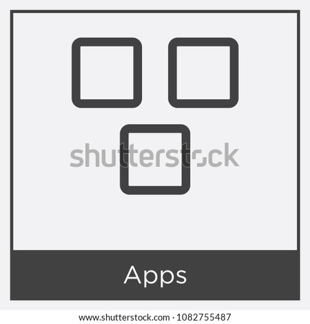 Apps Icon Isolated On White Background Stock Vector 1082755487 ...