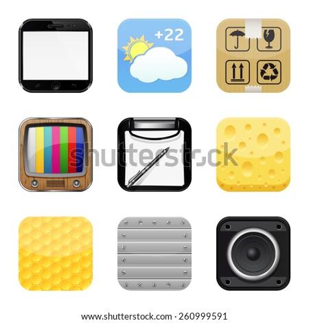 Apps icon set 2 - stock vector