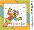 April Fool's Day. Funny illustration. - stock vector