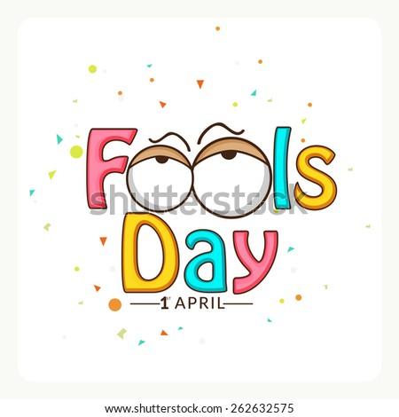 April fools day. - stock vector
