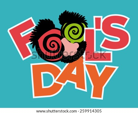 April fools day design, vector illustration. - stock vector