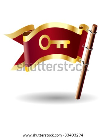 April month calendar icon on royal vector flag button, good for use on websites, in print, or on promotional materials