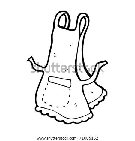 apron cartoon - stock vector