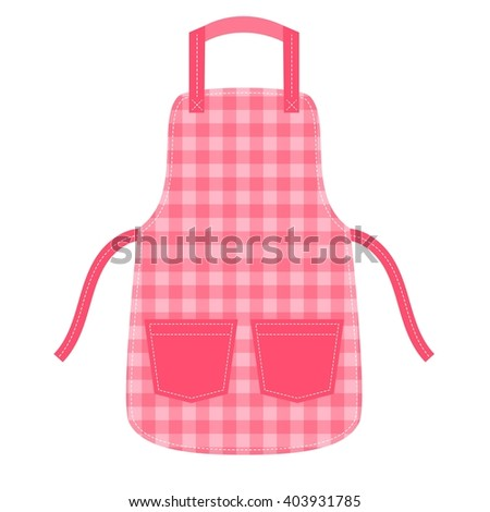 Apron with pocket and outsets - stock vector