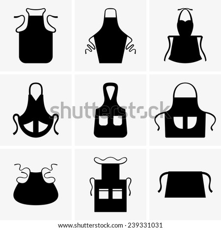 Aprons - stock vector