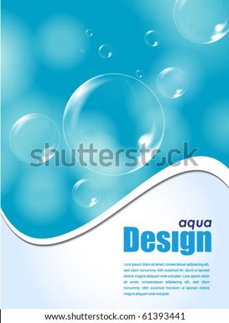 aqua design background - stock vector