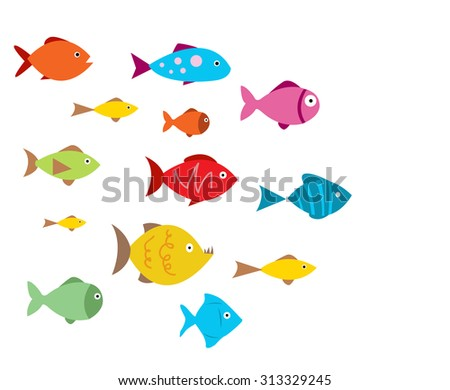 Aquarium Fishes - stock vector