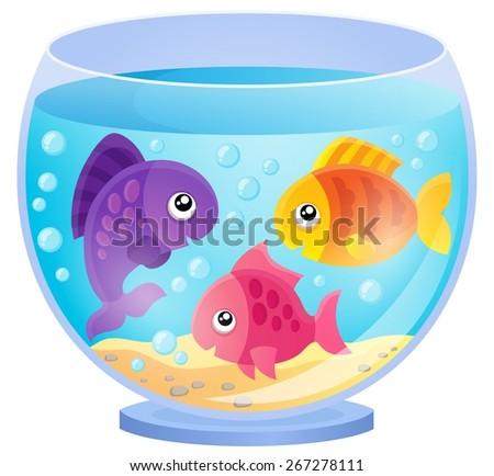 Aquarium theme image 7 - eps10 vector illustration. - stock vector