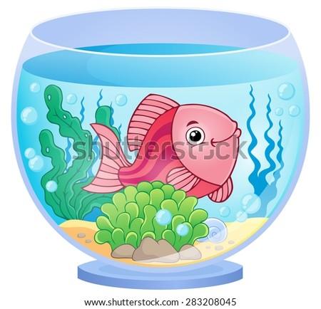 Aquarium theme image 9 - eps10 vector illustration. - stock vector