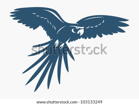 Ara parrot - vector illustration - stock vector